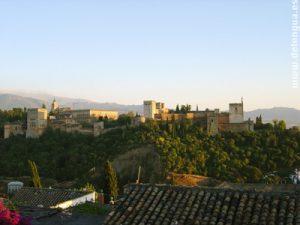 La vue sur l'Alhambra