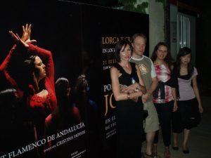 Quelques étudiants au ballet flamenco de Grenade