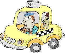 En el taxi...