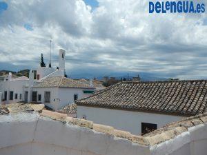 La vue depuis la terrasse d'une maison de Delengua