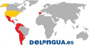 Pays où l'espagnol est la langue officielle en rouge, les Etats Unis, 2ème pays en nombre de natifs hispaniques
